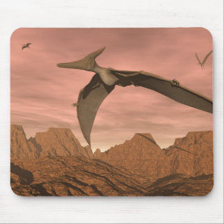 Pteranodon dinosaurs flying - 3D render Mouse Pad