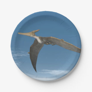 Pteranodon dinosaurs flying - 3D render Paper Plate