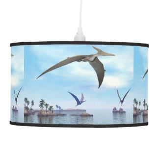 Pteranodon dinosaurs flying - 3D render Pendant Lamp