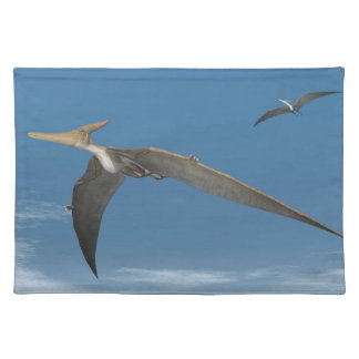 Pteranodon dinosaurs flying - 3D render Placemat