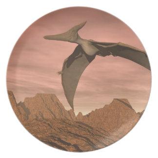 Pteranodon dinosaurs flying - 3D render Plates