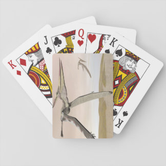 Pteranodon dinosaurs flying - 3D render Playing Cards