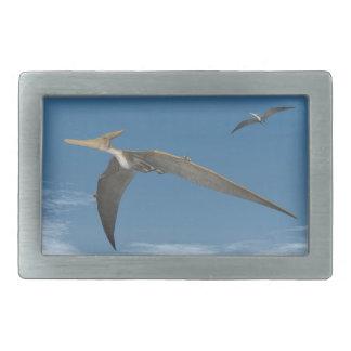 Pteranodon dinosaurs flying - 3D render Rectangular Belt Buckles
