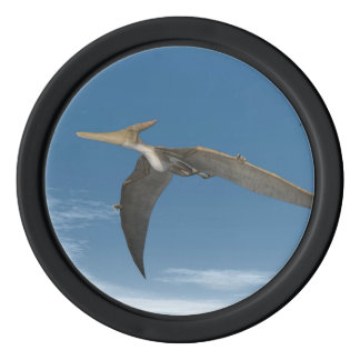 Pteranodon dinosaurs flying - 3D render Set Of Poker Chips