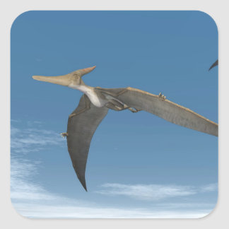 Pteranodon dinosaurs flying - 3D render Square Sticker
