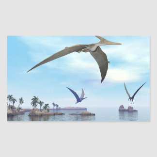 Pteranodon dinosaurs flying - 3D render Sticker
