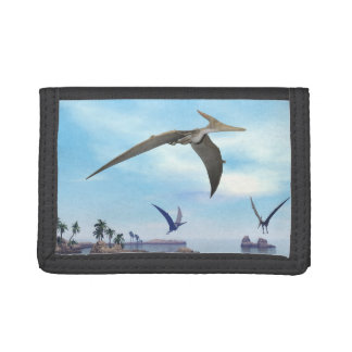 Pteranodon dinosaurs flying - 3D render Trifold Wallets