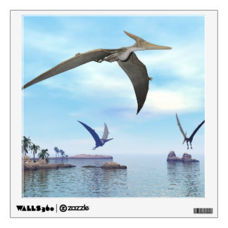 Pteranodon dinosaurs flying - 3D render Wall Decal