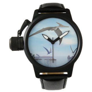 Pteranodon dinosaurs flying - 3D render Watches