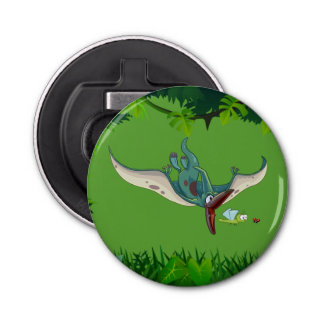 Pteranodon eating a dragonfly eating a ladybug button bottle opener