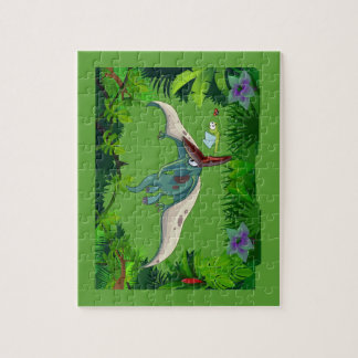 Pteranodon eating a dragonfly eating a ladybug jigsaw puzzle