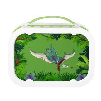 Pteranodon eating a dragonfly eating a ladybug lunch box