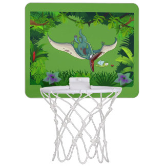 Pteranodon eating a dragonfly eating a ladybug mini basketball hoop