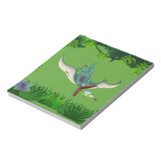 Pteranodon eating a dragonfly eating a ladybug notepad
