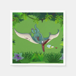 Pteranodon eating a dragonfly eating a ladybug paper napkins