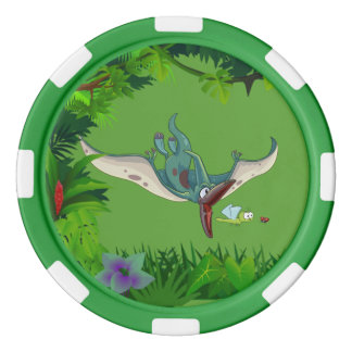 Pteranodon eating a dragonfly eating a ladybug poker chips
