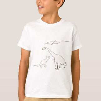 Pteranodon, Tyrannosaurus, Brontosaurus shirts
