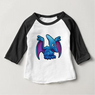 Pterodactyl Dinosaur Cartoon Character Baby T-Shirt