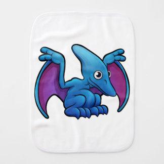 Pterodactyl Dinosaur Cartoon Character Burp Cloth