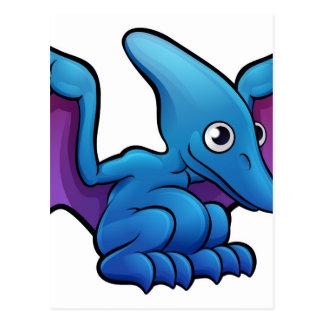 Pterodactyl Dinosaur Cartoon Character Postcard