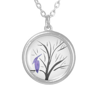 Pterodactyl In A Tree Silver Plated Necklace