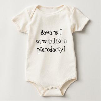 Pterodactyl screamer onsie baby bodysuit