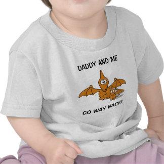 Ptérodactyle de papa et de bébé t-shirts