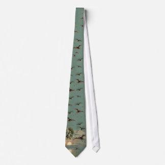 Pterodactyls Antique Print Tie