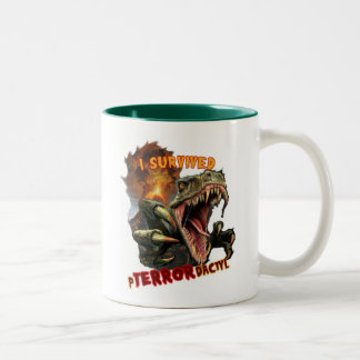 pTERRORdactyl Two-Tone Coffee Mug