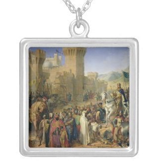 Ptolemais given to Philip Augustus Silver Plated Necklace