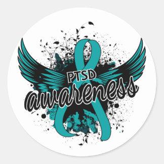 PTSD Awareness 16 Round Sticker