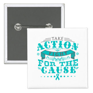 PTSD Take Action Fight For The Cause 2 Inch Square Button