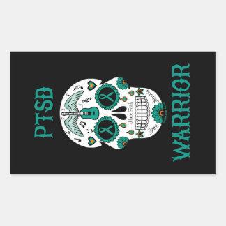 PTSD WARRIOR sugar skull