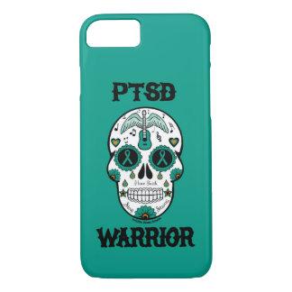 PTSD WARRIOR sugar skull iPhone 8/7 Case