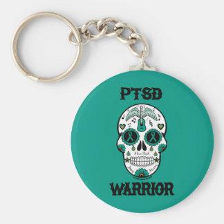 PTSD WARRIOR sugar skull Keychain