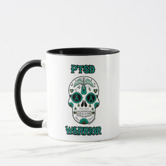PTSD WARRIOR sugar skull Mug