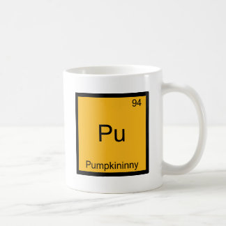 Pu - Pumpkininny Funny Chemistry Element Symbol Coffee Mug
