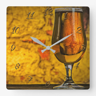 Pub-bar Square Wall Clock