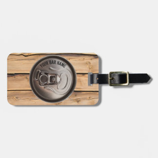 Pub Or Bar Owner Beer Can Luggage Tag