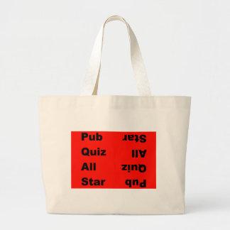 pub quiz all star large tote bag