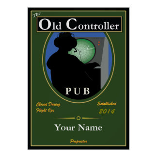 "Pub Sign, Personalized: ""The Old Controller"" Print"
