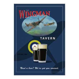 "Pub Sign, ""The Wingman Tavern"" Poster"