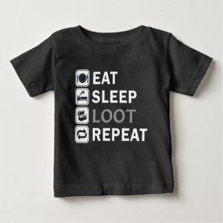 pubg-Eat Sleep Loot Repeat Baby T-Shirt