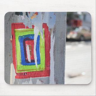Public Art New York City Telephone Pole Graffiti Mouse Pad