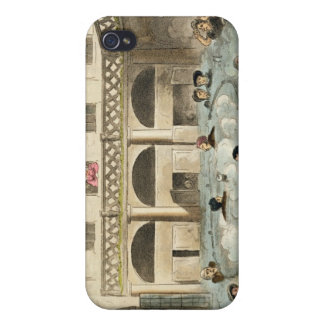Public Bathing at Bath, or Stewing Alive, print pu iPhone 4 Covers