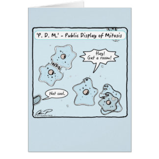 """""""Public Display of Mitosis"""" Valentine's Day Card"""