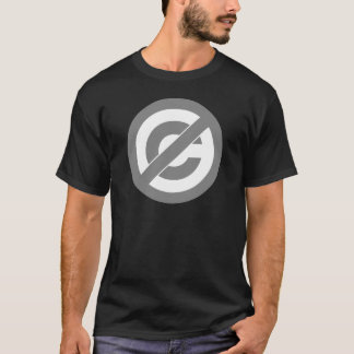 Public Domain Anti-Copyright Symbol T-Shirt