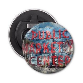 Public Market Center in Seattle Washington Bottle Opener