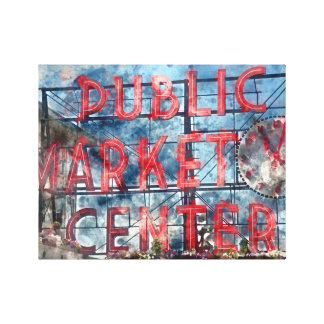 Public Market Center in Seattle Washington Canvas Print