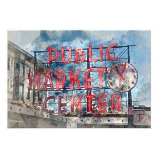 Public Market Center in Seattle Washington Photo